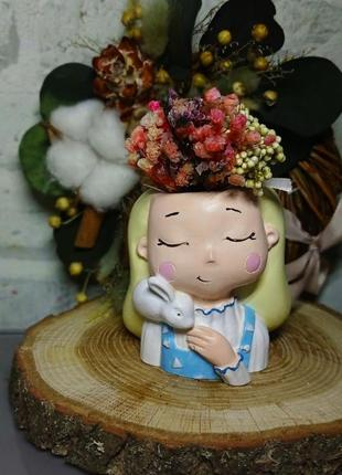 Мини вазочка для сукулентов и  кактусов
