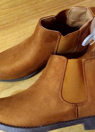 Ботинки челси с@а ( эко замш) размер 37; 38