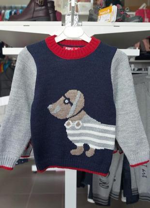 Очень мягкий свитер pepe  на мальчика от 1 года до 5 лет