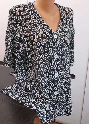 Ischiko германия шелковая блуза большого размера нарядная блузка решелье  р.54 - 56 - 58