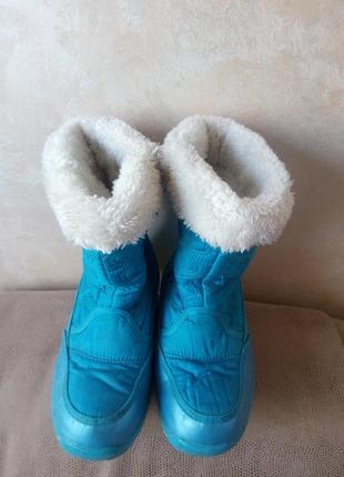 Зимние сапожки для девочки, стелька 22см.