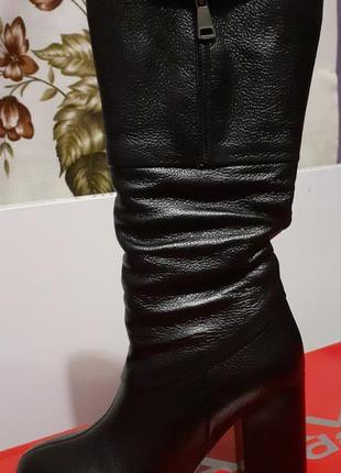 Ботфорди чоботи з натуральної шкіри