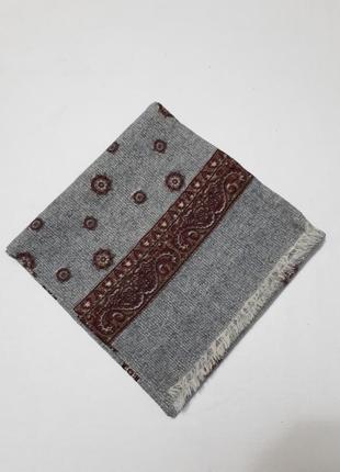 Шарф серый шерстяной классический шерсть англия3 фото