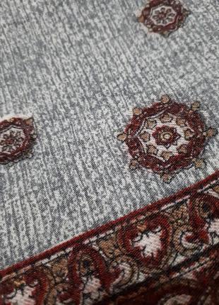 Шарф серый шерстяной классический шерсть англия4 фото