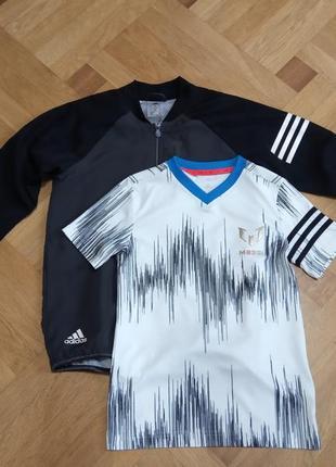 Вітровка олімпійка футболка adidas messi оригінал ріст 140 9-10 років