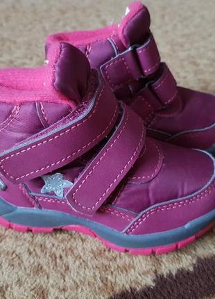 Теплые ботиночки для девочки 21 р