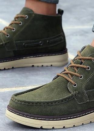 Мужские зимние ботинки замша р. 44
