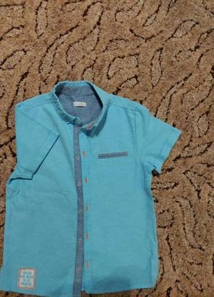 Рубашка на мальчика 122 р бемби