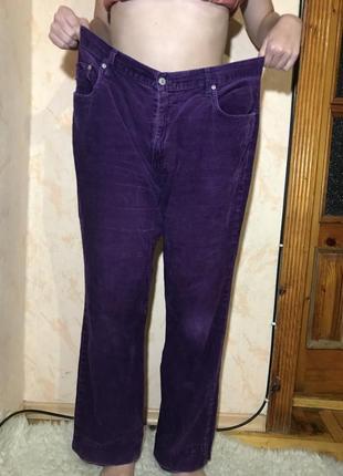 Вельветовые батальные брюки большой размер джинсы
