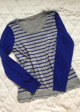 Gap джемпер свитер полосатый серый синий m\l