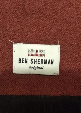 Мужской кашемировый шарф ben sherman