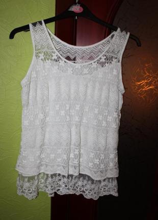 Кружевная блузка наш 48-50 размер
