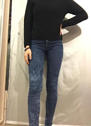 Скинни джинсы тай-дай