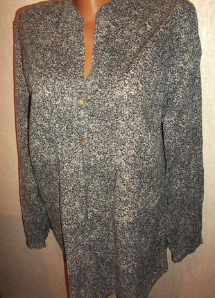 Фирменная стильная рубашка под джинсы -р. 46 - gina benotti
