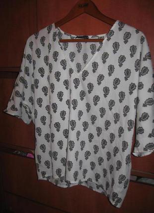 Блуза бело-черная
