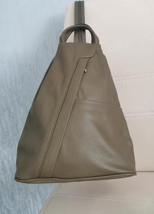 Vera pelle italy модний шкіряний рюкзак жіночий 100% шкіра