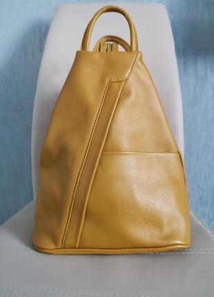 Vera pelle italy сумка рюкзак кожаная женская купить