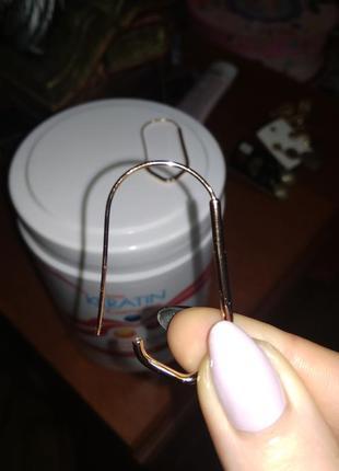 Медицинское золото очень красивые сережки лёгкие))