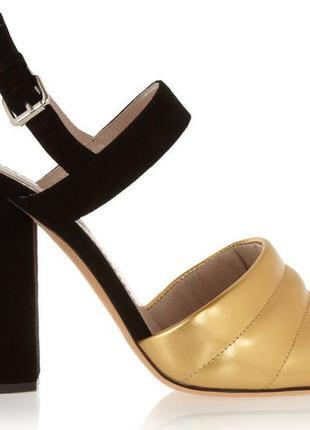£607 marc jacobs босоножки сандалии кожа замша 38 made in italy