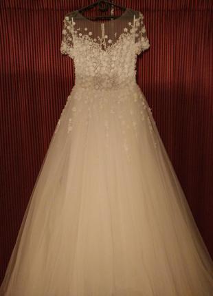 Дизайнерское свадебное платье esty style/фата в подарок