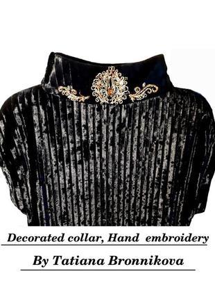 Эксклюзивно! роскошное авторское велюровое платье, полностью ручной работы