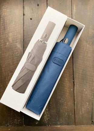 Брендовый зонт krago полный автомат в подарочной упаковке синий