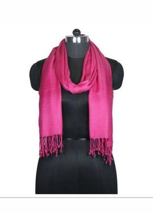 Розовый шарф 100% вискоза
