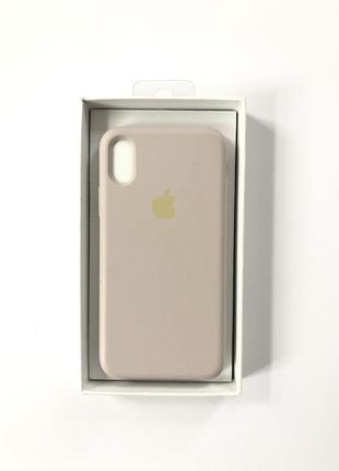 Чехол на iphone x лиловый софт тач