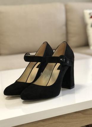 Замшевые туфли elle