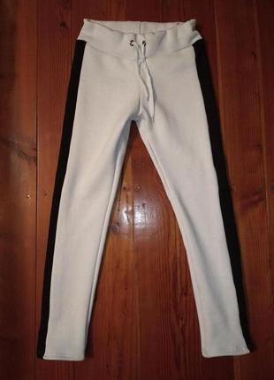Теплые штаны, брюки на флисе с лампасами, лосины, леггинсы, зимние брюки, теплі штани