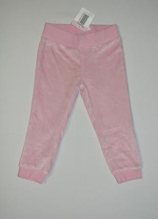 Штаны велюровые для девочки impidimpi германия размер 74-80 см