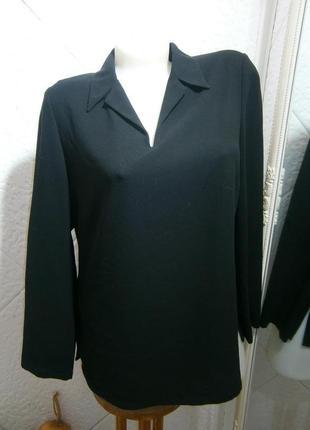 Черная  свободная скромная блузка замеры