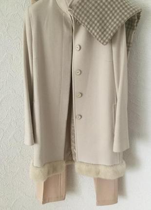 Blumarine пальто с норковой отделкой