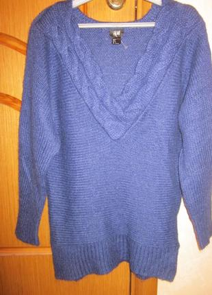 Фирменный удлиненный свитер-туника h&m размер s