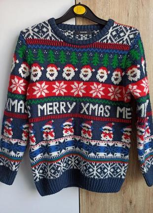 Новогодний свитер с орнаментом george