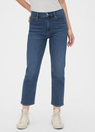 Прямые джинсы с высокой посадкой gap