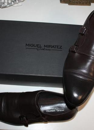 Мужские туфли монки double strap шоколадного цвета