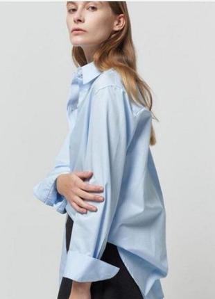 Качественная небесно-голубая рубашка