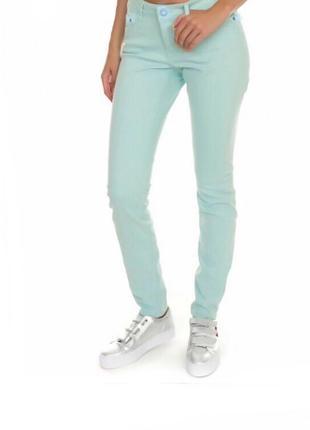 Стильные джинсовые брюки высокая талия s/m denimco англия 🏴 оригинал