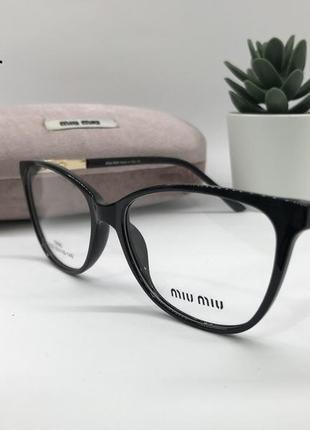 Стильная оправа под замену линз miu miu 9231 чёрная