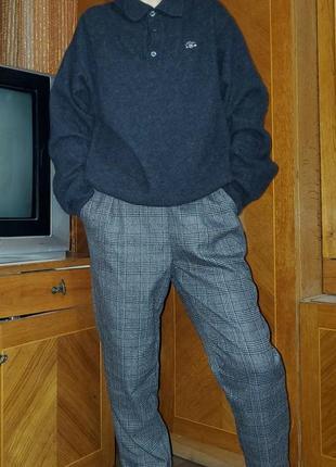 Базовый шерстяной свитер поло джемпер оверсайз replay италия шерсть