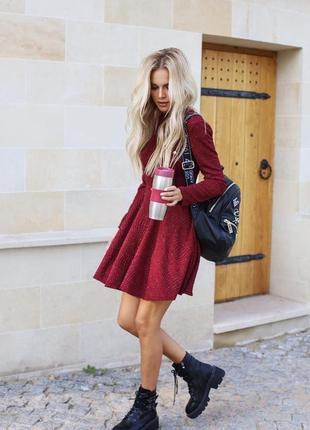 Платье с люрексовой нитью