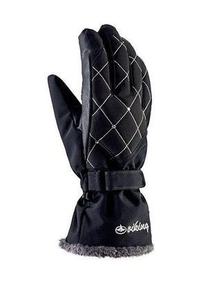 Рукавиці гірськолижні жіночі viking crystal 6 чорний 09 113183417.6xs.blk