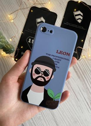 Чехол силикон хорошее качество iphone 7 8 se 2020 leon