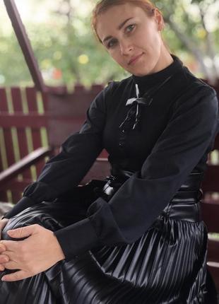 Блуза-гольф с широкими рукавами