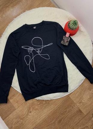 Модный свитшот женский кофта с рукавом реглан принт s, m