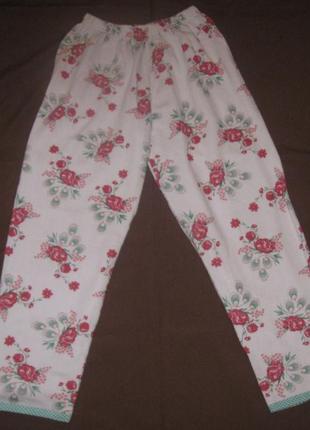 Штаны бриджи пижамные женские. новые.материал – байка