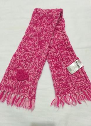 Розовый теплый шарф