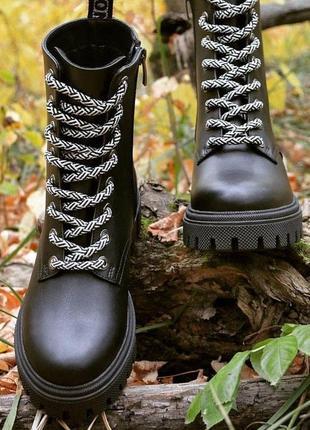 Ботинки демисезонные, осенние, зимние, кожаные, женские, 36-40р