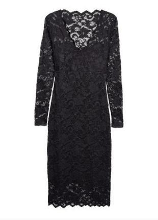 Черное платье h&m